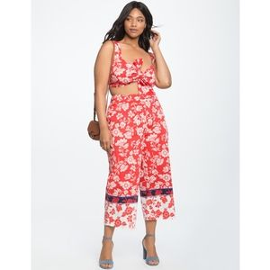 NWT Eloquii red floral printed capris - size 14